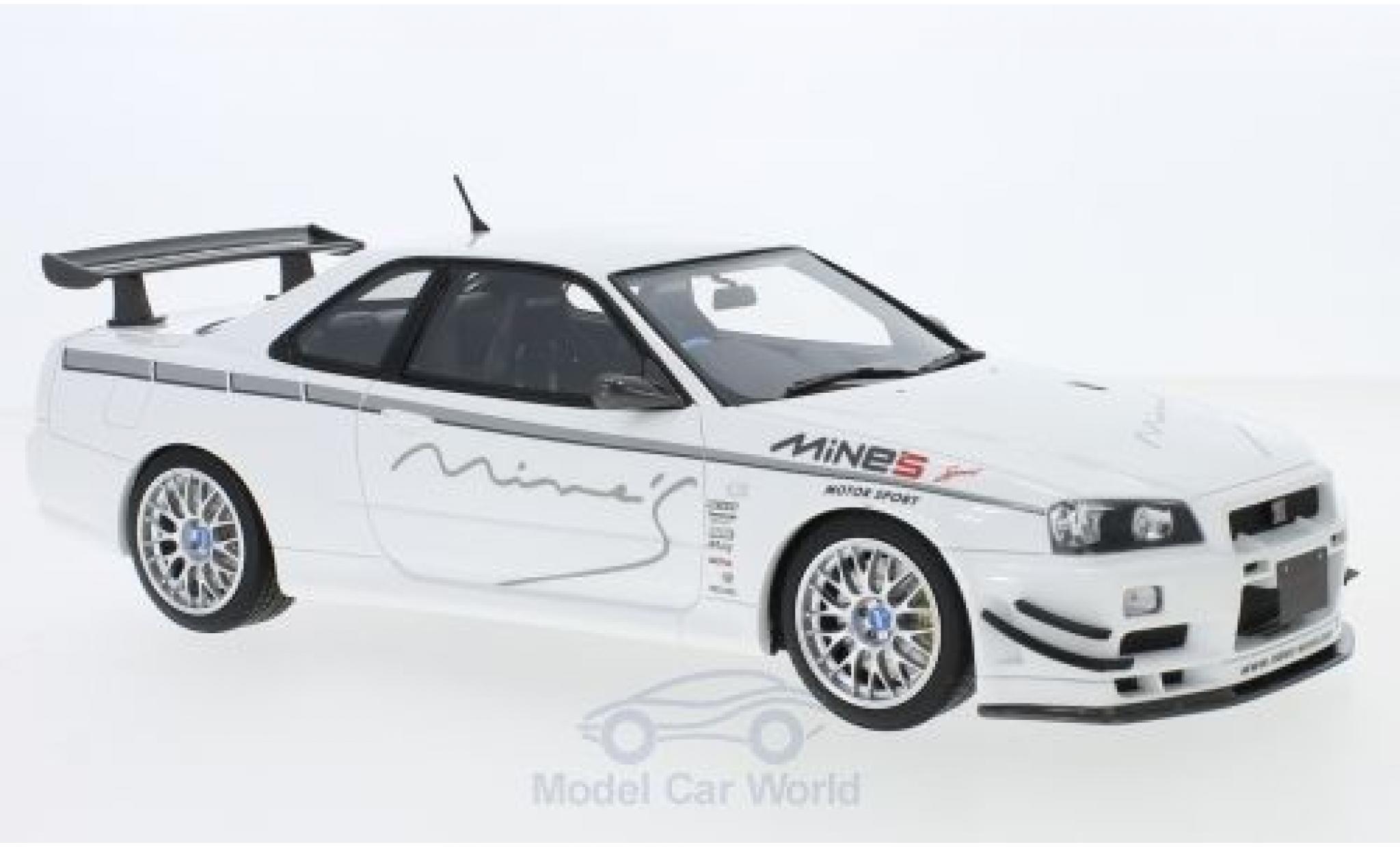 Nissan Skyline 1/18 Ottomobile GT-R (R34) MineS bianco RHD 2011