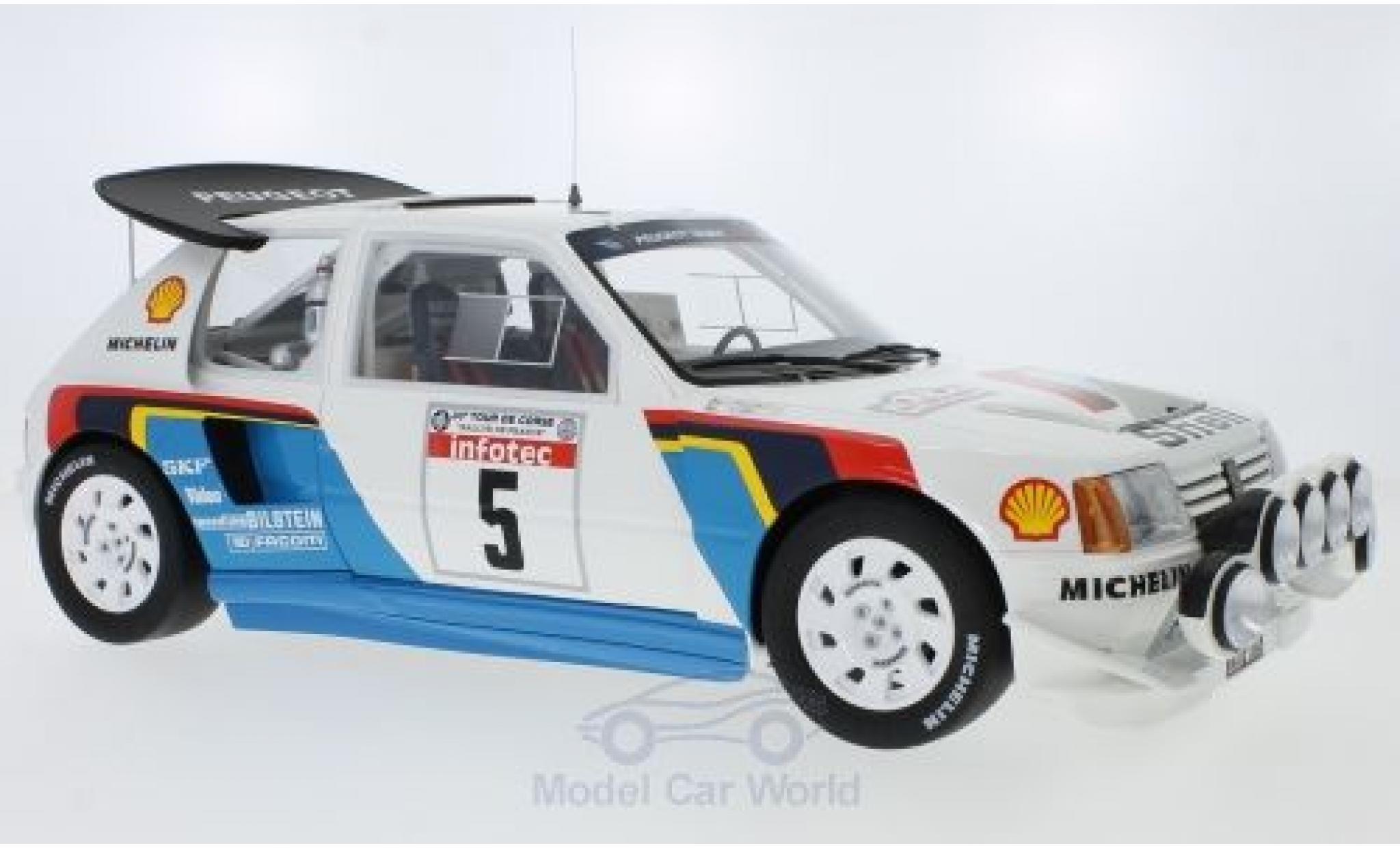 Peugeot 205 1/18 Ottomobile T16 Evo 2 No.5 Talbot Sport Rallye WM Rallye Tour de Corse 1986 B.Saby/J-F.Fauchille