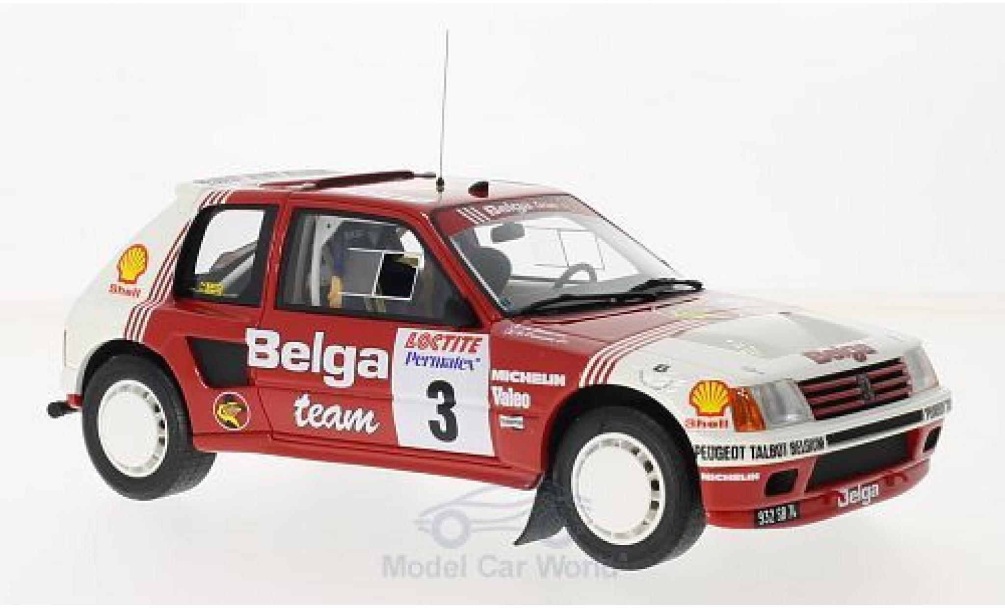 Peugeot 205 Rallye 1/18 Ottomobile T16 Gruppe B No.3 Belga Rallye Ypres 1985 B.Darniche/A.Mahe