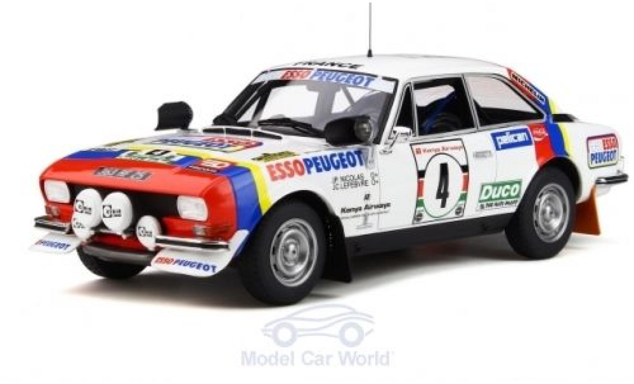 Peugeot 504 1/18 Ottomobile Gr.4 Coupe V6 No.4 Rallye WM Safari Rallye 1978 J.P.Nicolas/J.C.Lefebvre