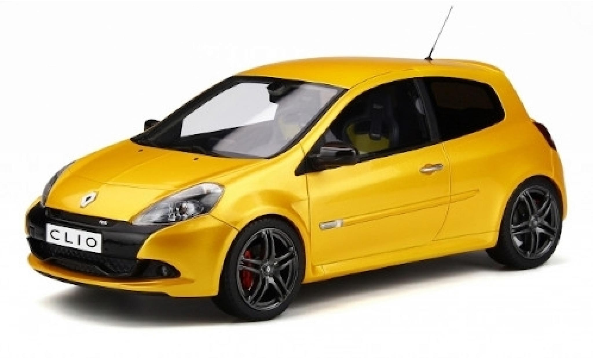 Renault Clio 1/18 Ottomobile 3 RS Phase 2 Sport Cup metallise jaune 2010