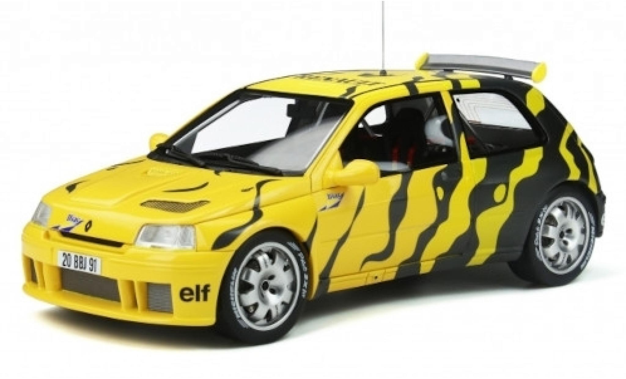 Renault Clio 1/18 Ottomobile Maxi jaune/noire Diac 1995 véhicule de présentation