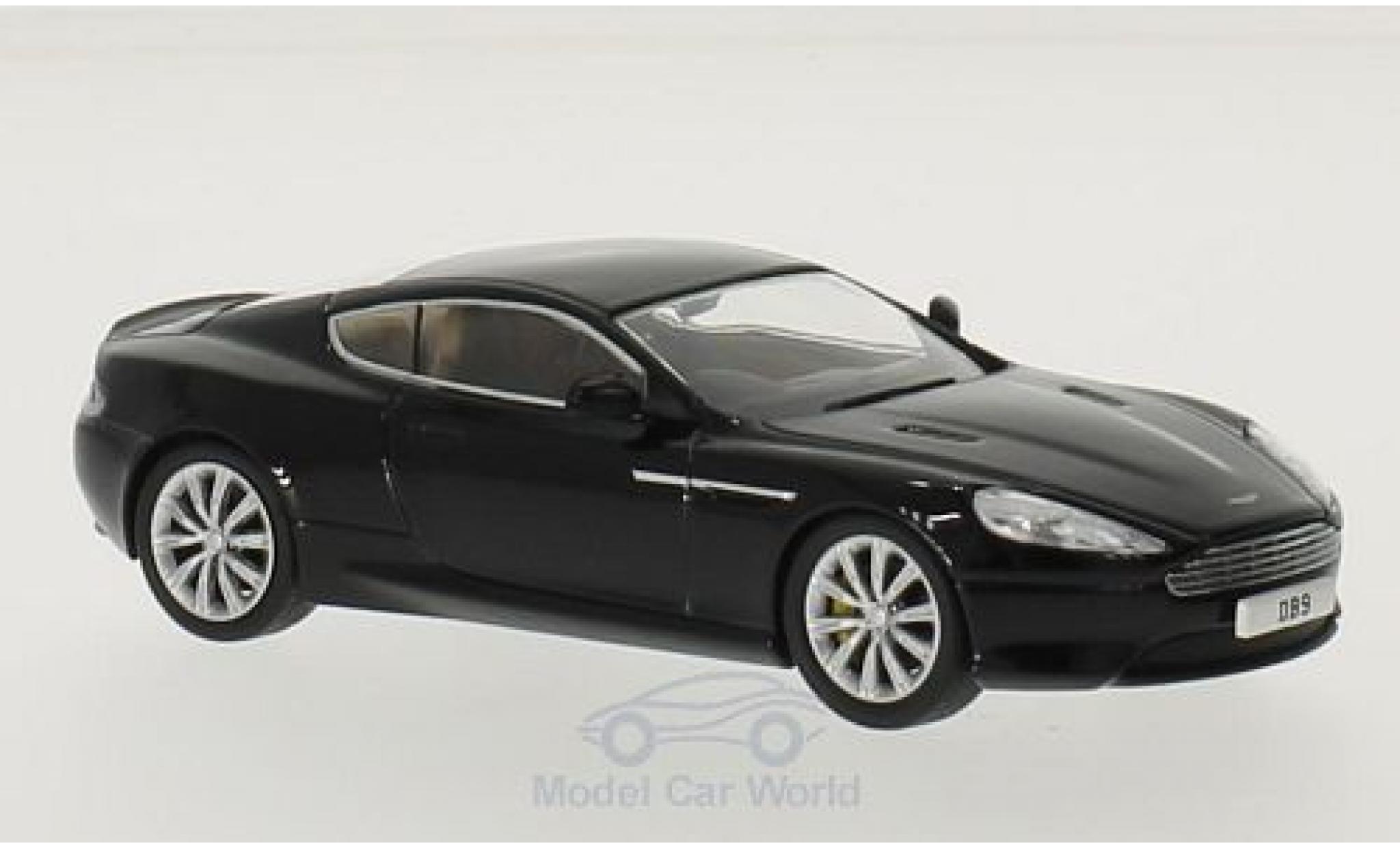Aston Martin DB9 1/43 Oxford Coupe noire RHD