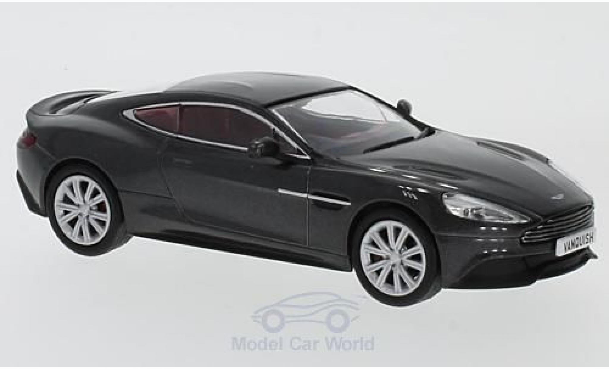 Aston Martin Vanquish 1/43 Oxford Coupe metallise grise RHD
