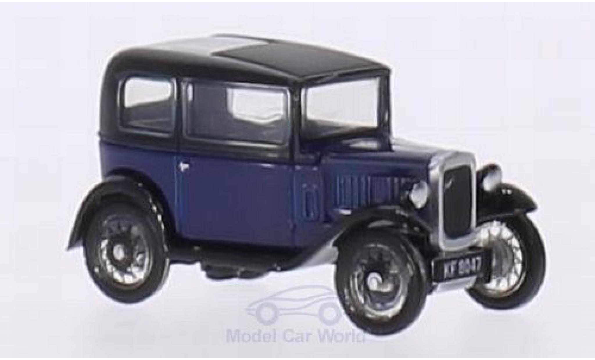 Austin Seven 1/76 Oxford RN Saloon bleue/noire RHD