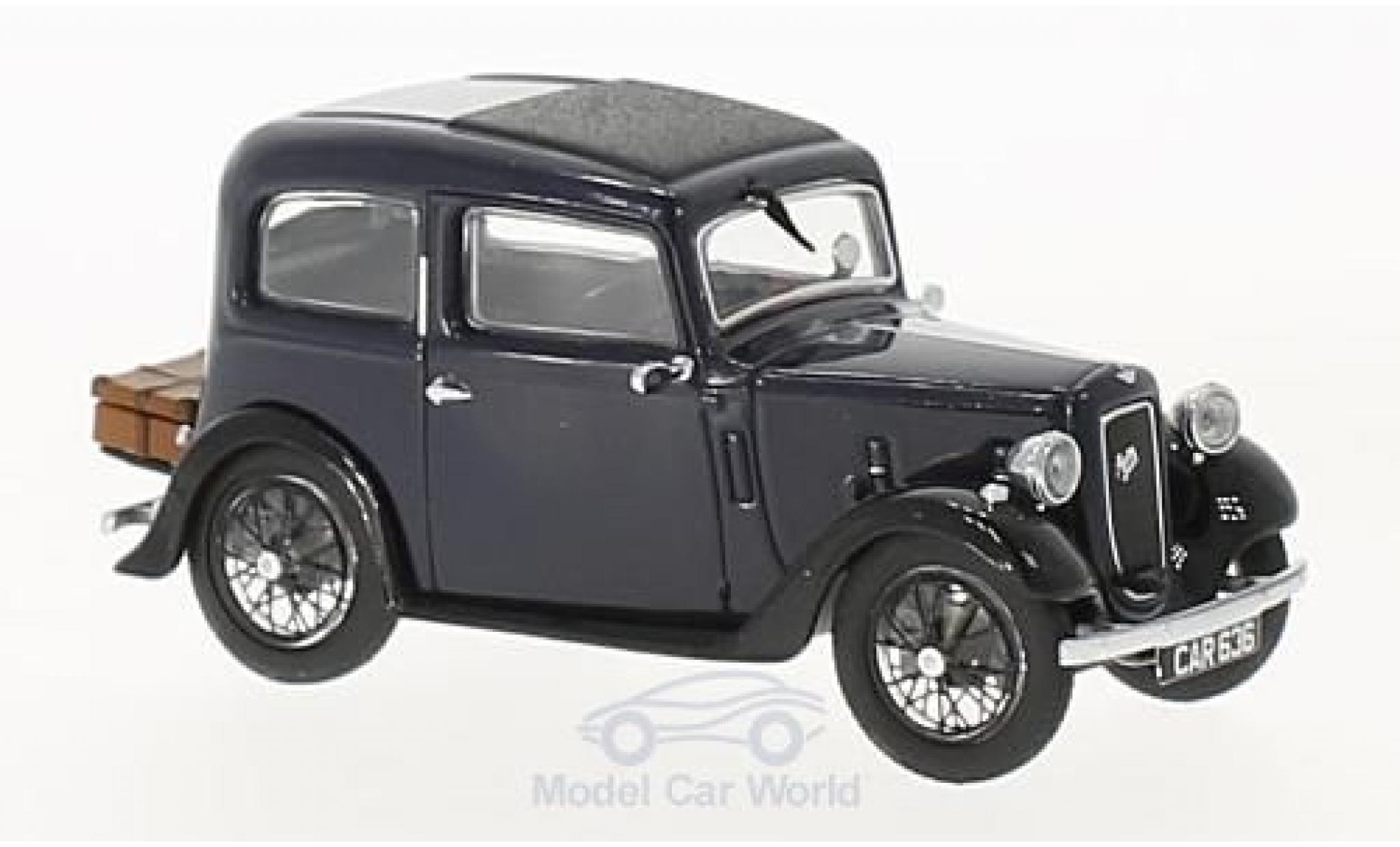 Austin Seven 1/43 Oxford Ruby Saloon bleue RHD