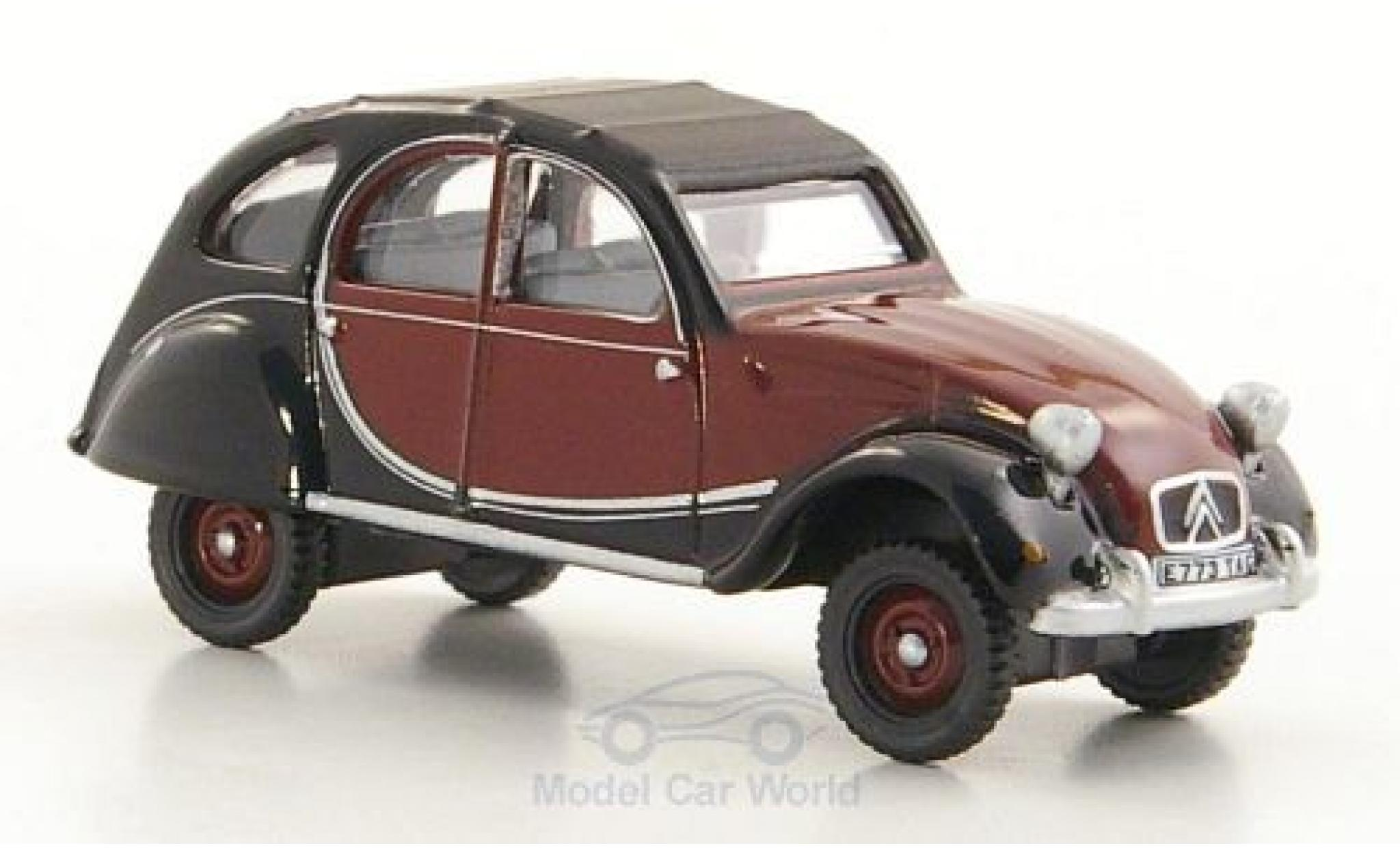 Citroen 2CV 1/76 Oxford Charleston rouge/noire RHD 1963