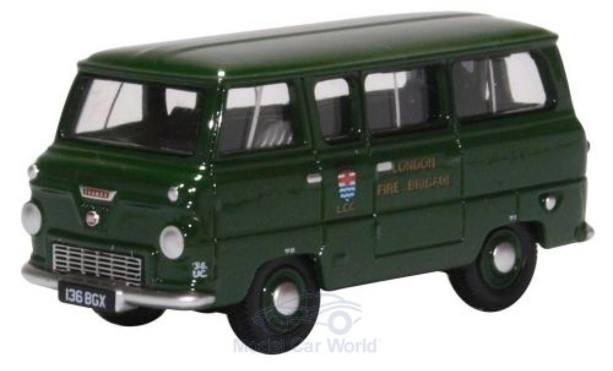 Ford 400E 1/76 Oxford Minibus verte London Fire Brigade