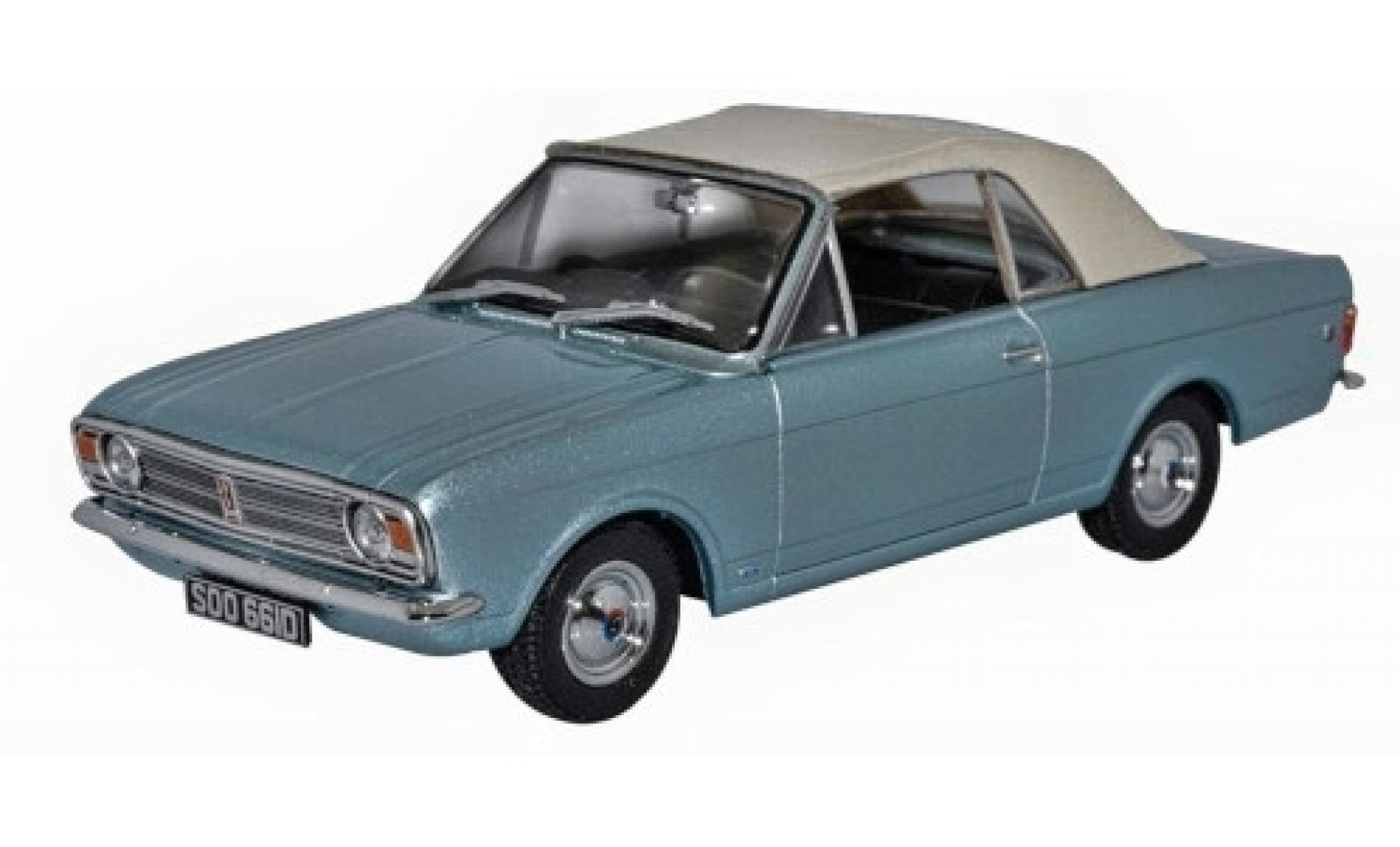 Ford Cortina 1/43 Oxford MKII Crayford Convertible metallise blue/white RHD