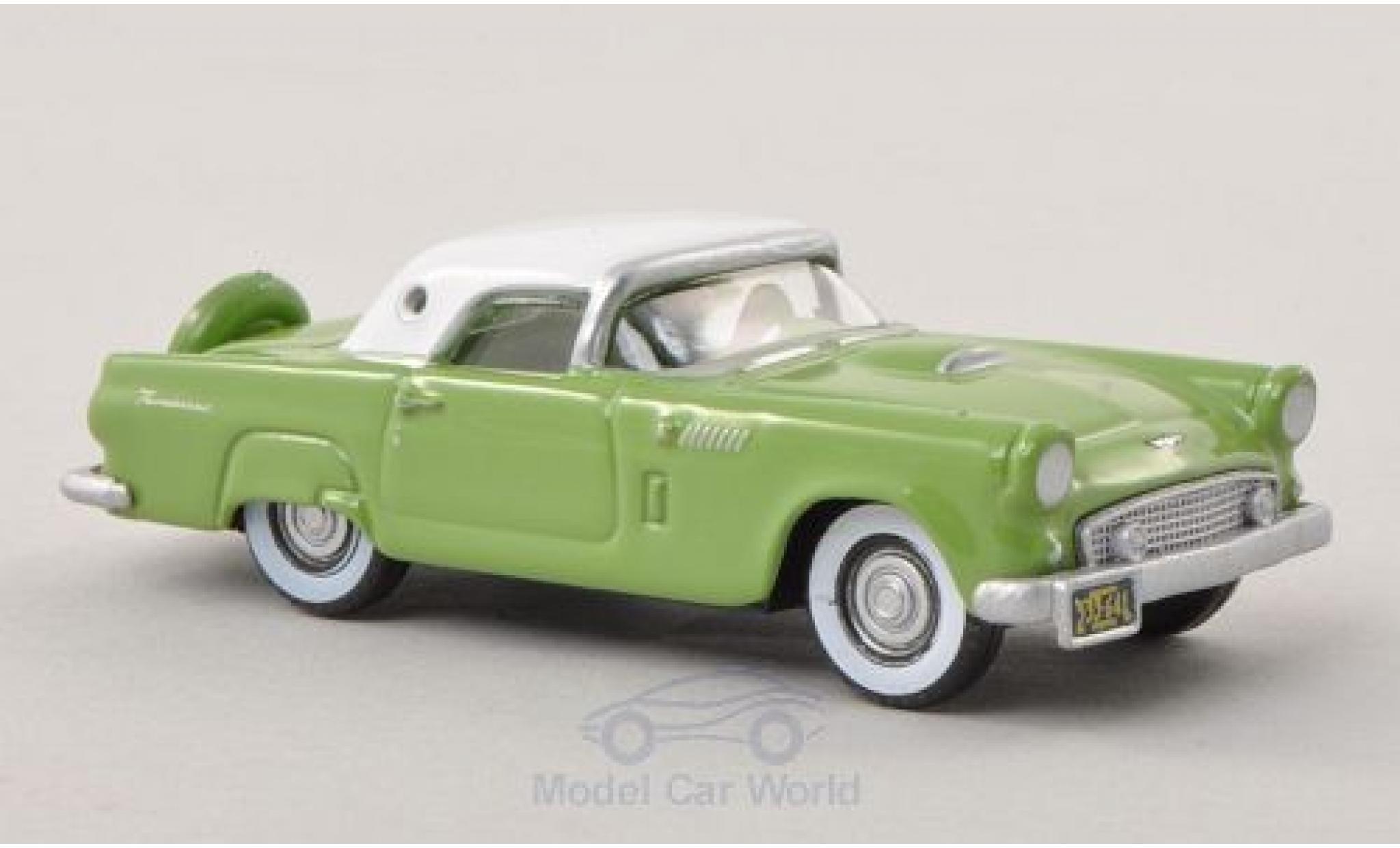 Ford Thunderbird 1956 1/87 Oxford verte/blanche
