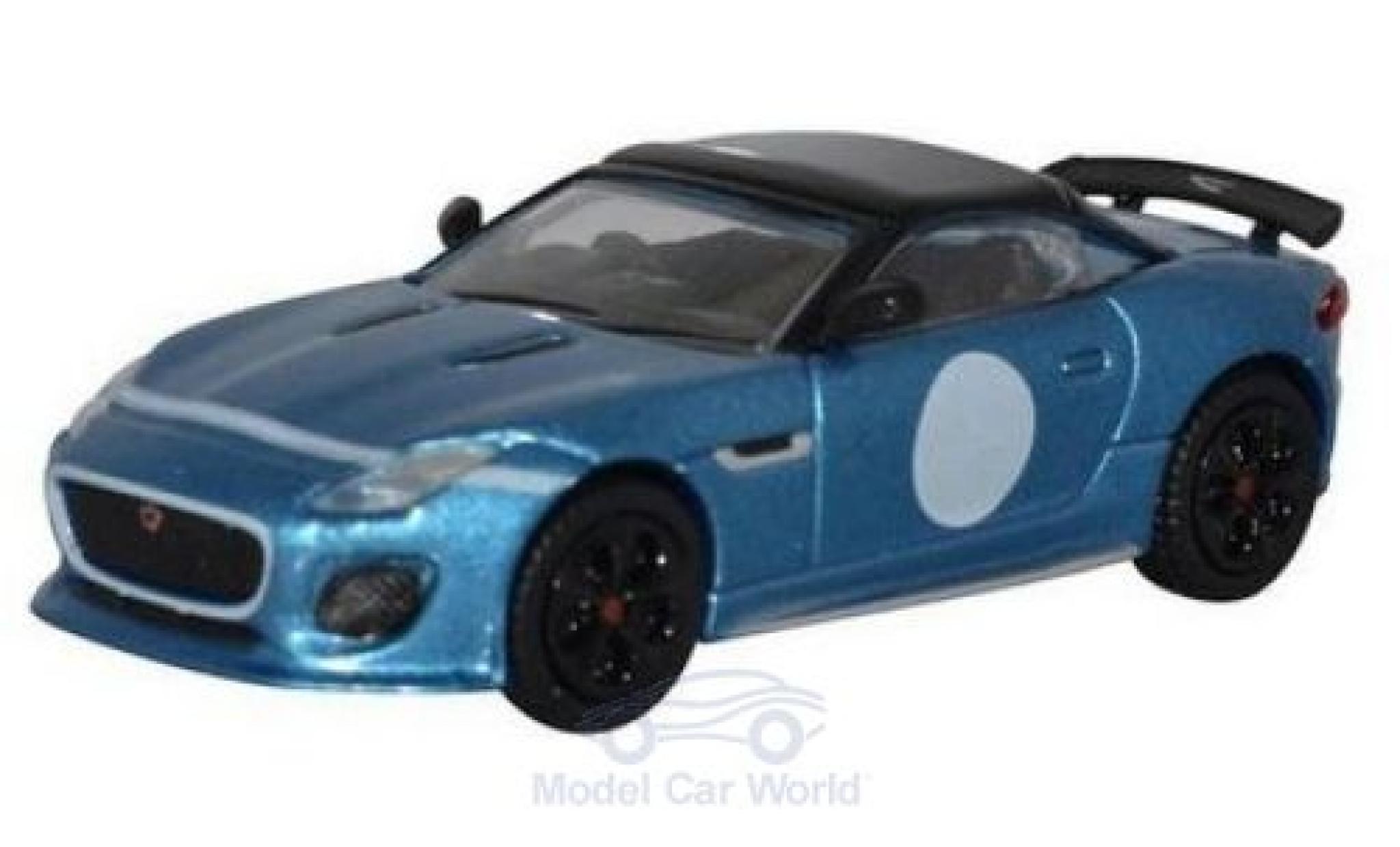 Jaguar F-Type 1/76 Oxford Project 7 metallise bleue