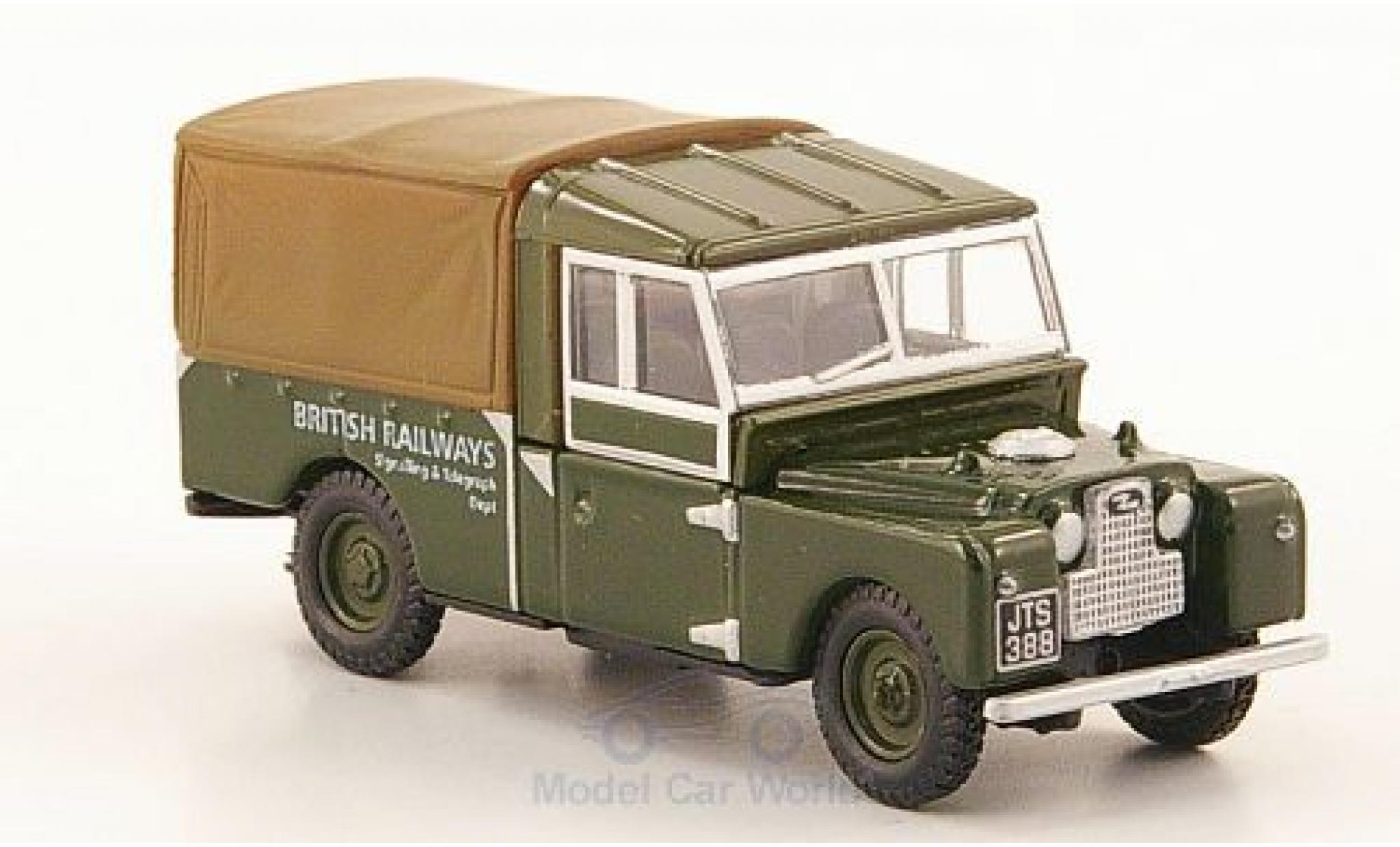 Land Rover Series 1 1/76 Oxford 109 oliv/marron British Railways
