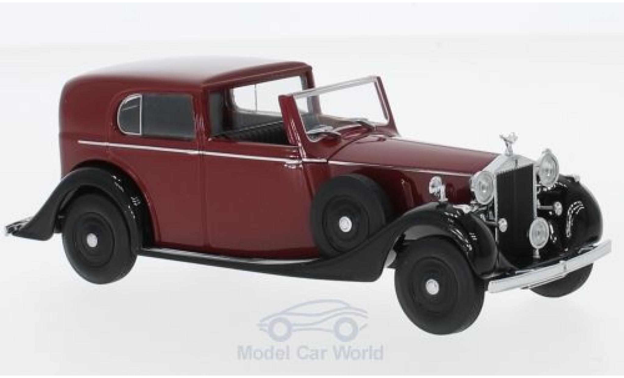 Rolls Royce Phantom 1/43 Oxford III Sedanca de Ville Mulliner rouge/noire RHD