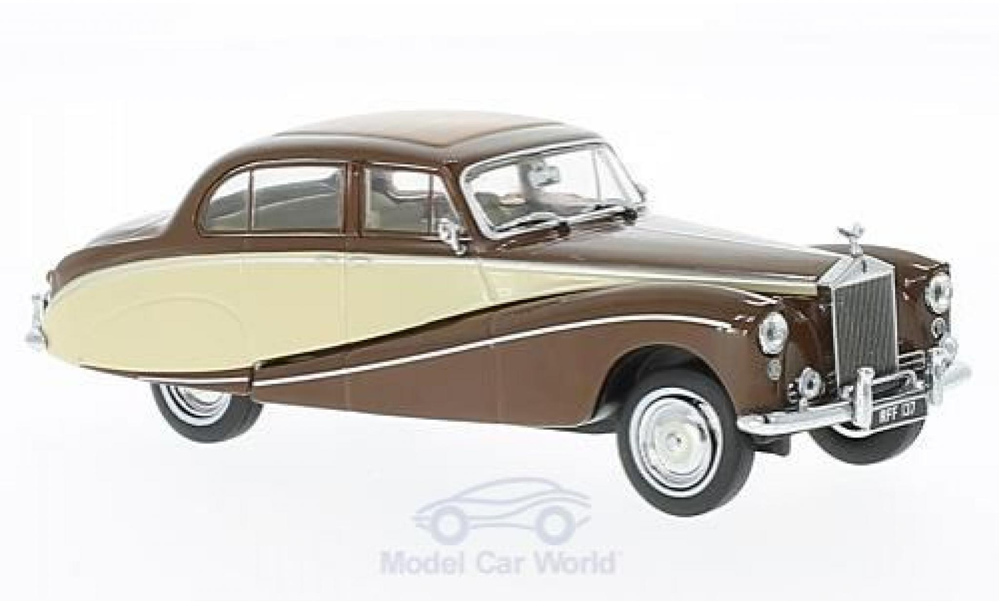 Rolls Royce Silver Cloud 1/43 Oxford Hooper Empress marron/beige RHD