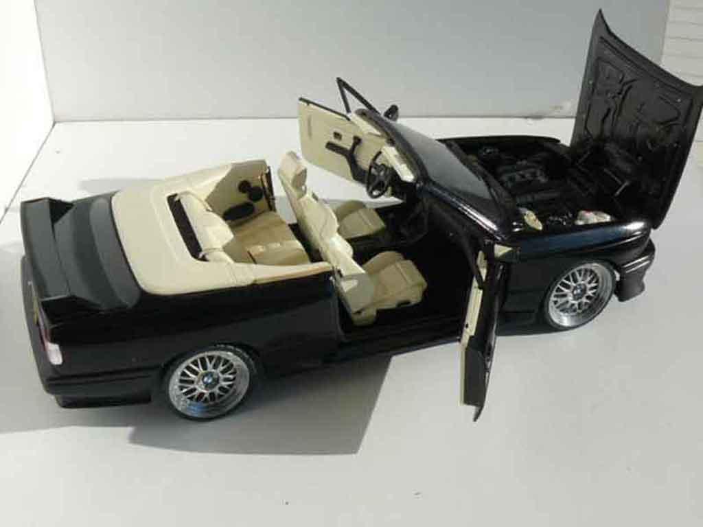 Bmw M3 E30 1/18 Autoart cabriolet nero jantes bbs 17 pouces