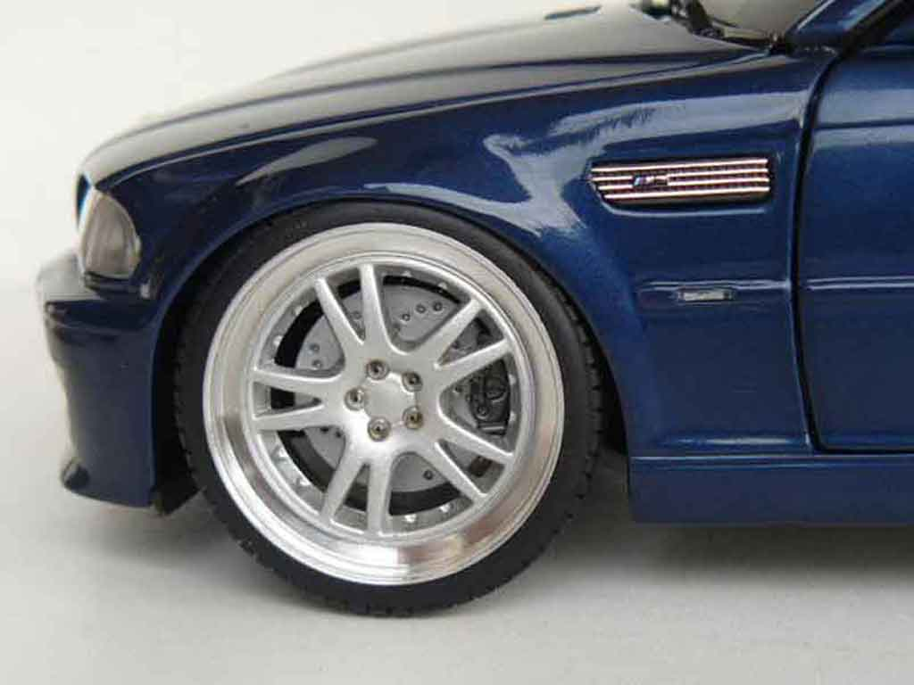 bmw m3 e46 cabriolet miniature bleue jantes 19 pouces kyosho 1 18 voiture. Black Bedroom Furniture Sets. Home Design Ideas