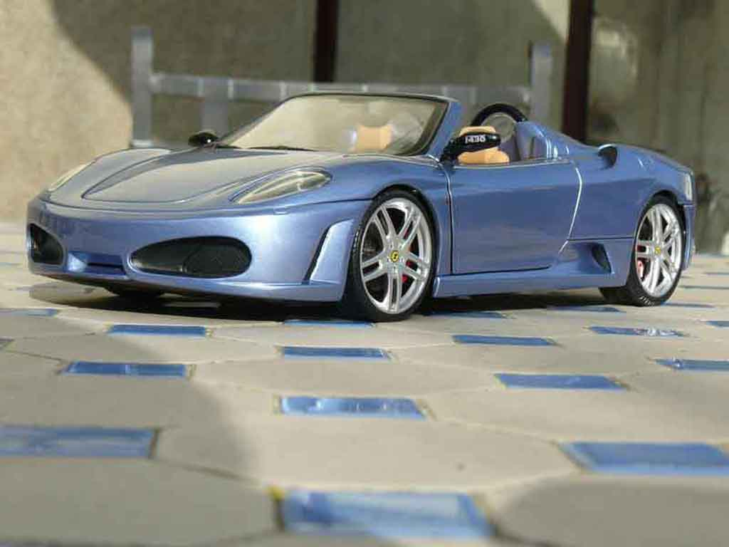 ferrari f430 spider blau metallise hot wheels modellauto 1 18 kaufen verkauf modellauto. Black Bedroom Furniture Sets. Home Design Ideas