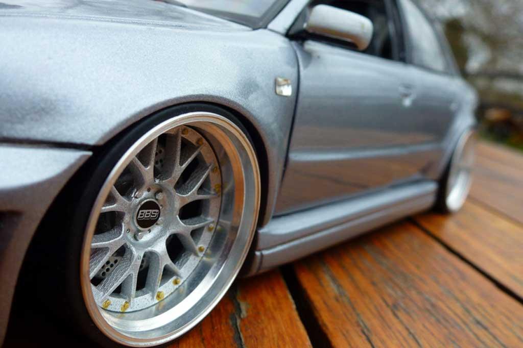 Audi S4 1/18 Ut Models grau jantes BBS 20 pouces tuning modellautos