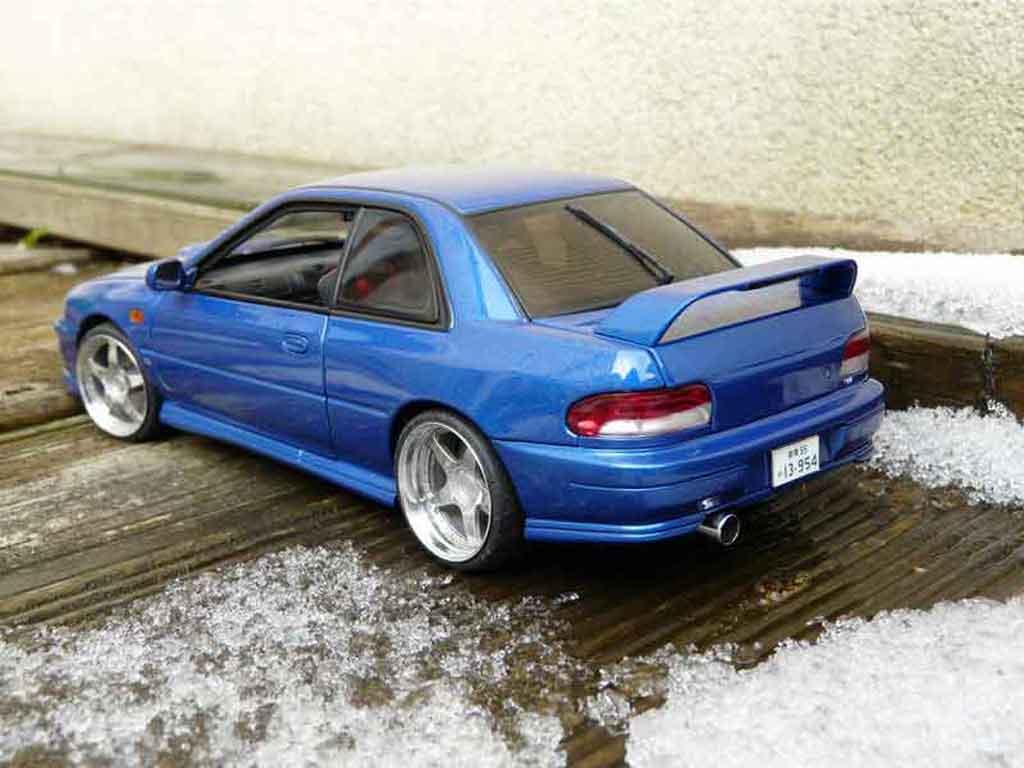 Subaru Impreza WRX Type R 1/18 Autoart gt turbo sti bleu