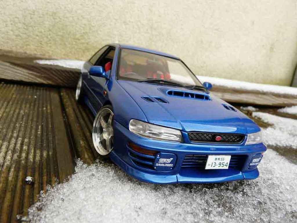 Subaru Impreza WRX Type R 1/18 Autoart gt turbo sti bleu tuning modellautos