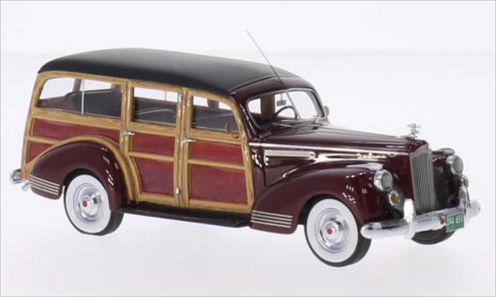Packard 110 1/43 Neo Deluxe Wagon rouge/Holzoptik 1941 miniature
