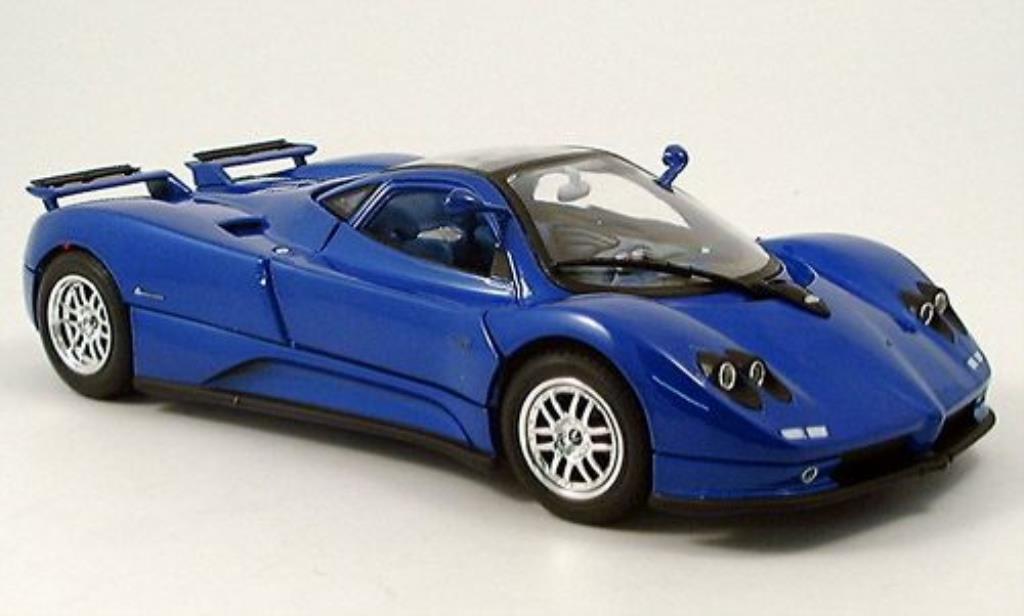 Pagani Zonda C12 1/18 Motormax bleu 2004 miniature