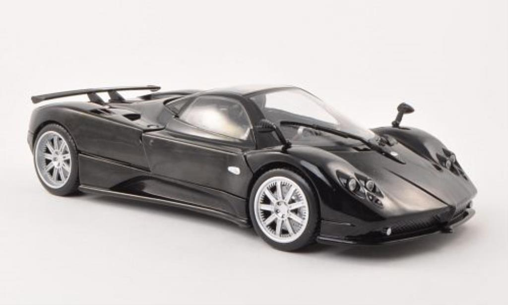 pagani zonda f miniature noire motormax 1 18 voiture. Black Bedroom Furniture Sets. Home Design Ideas