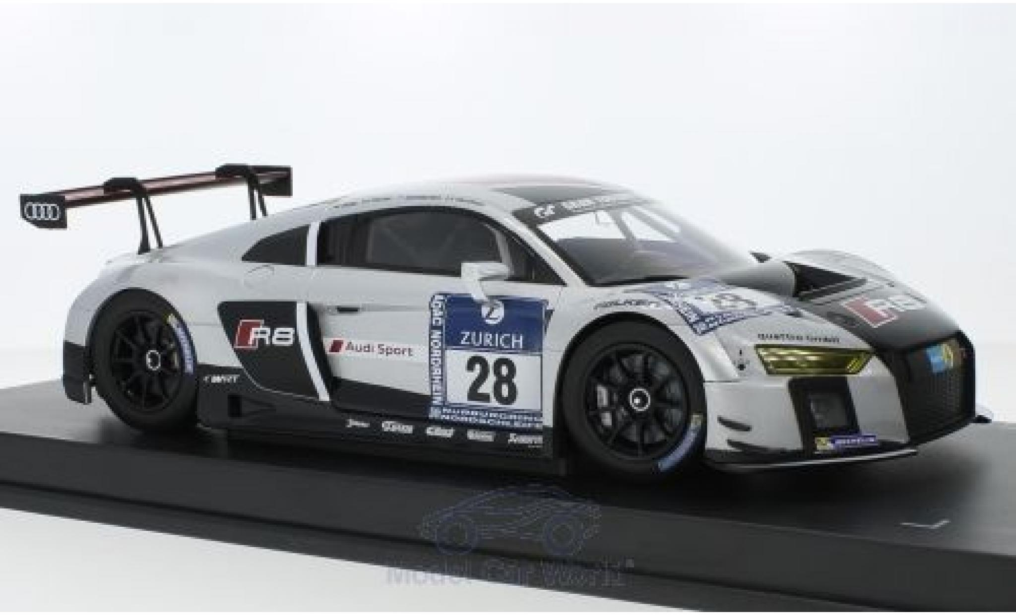 Audi R8 1/18 Paragon LMS No.28 Belgian Club Team WRT 24h Nürburgring 2015 C.Mies/E.Sandström/N.Müller/L.Vanthoor