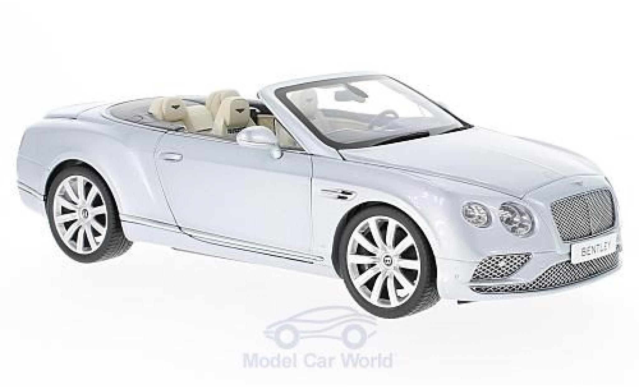Bentley Continental T 1/18 Paragon GT Convertible grise 2016
