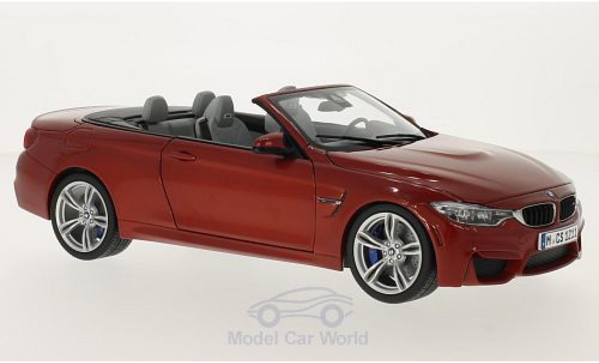 Bmw M4 F83 1/18 Paragon BMW (F83) Cabriolet metallic-dunkelorange Verdeck geöffnet