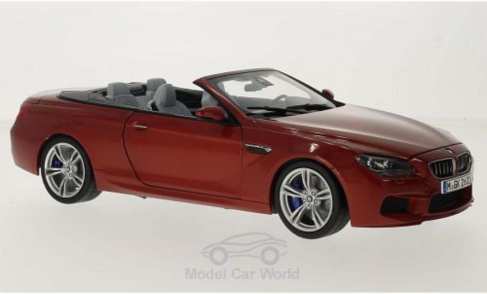 Bmw M6 F12 1/18 Paragon BMW Cabriolet (F12) metallic-dunkelorange