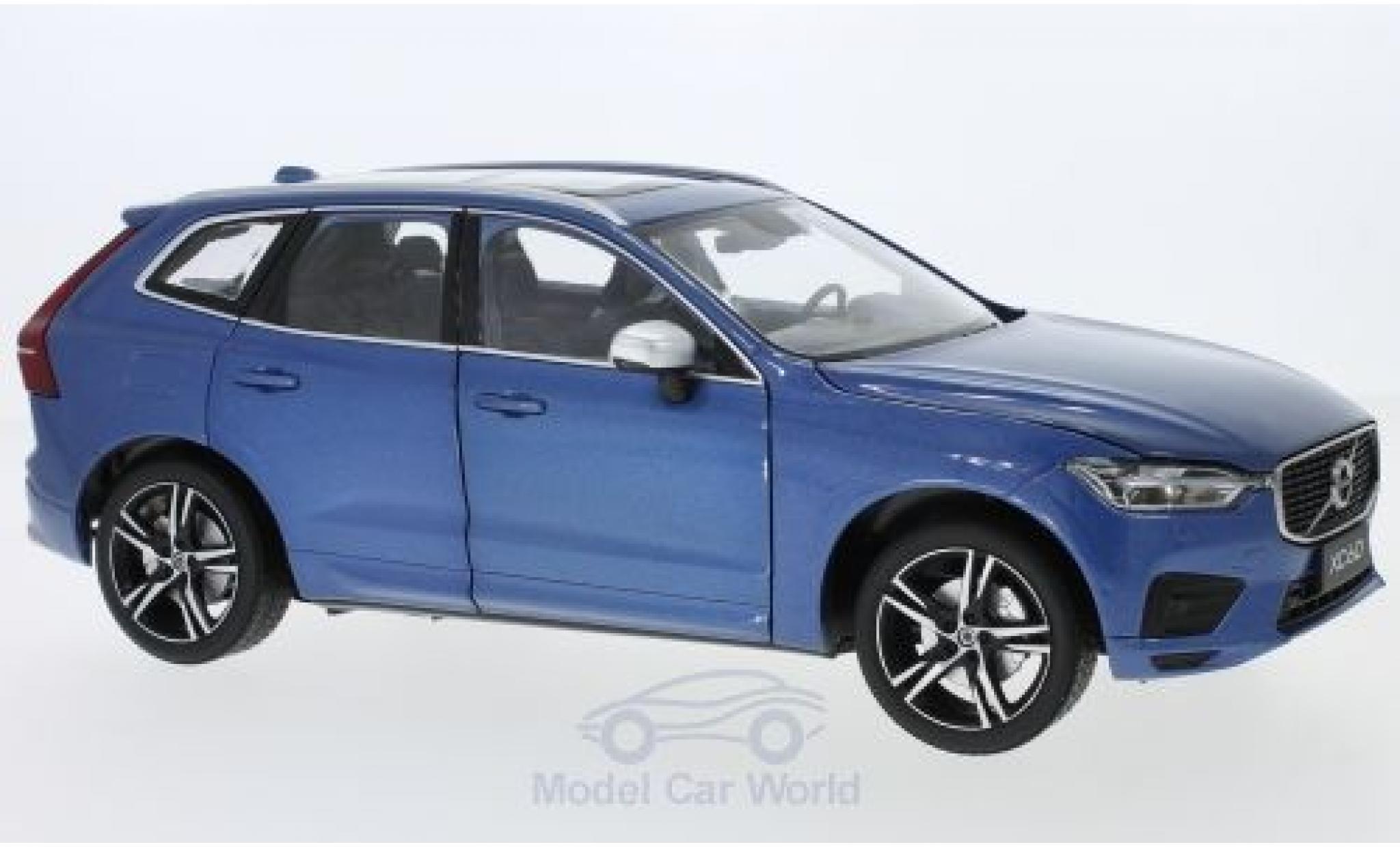 Volvo XC 60 1/18 Paudi R metallise bleue 2018