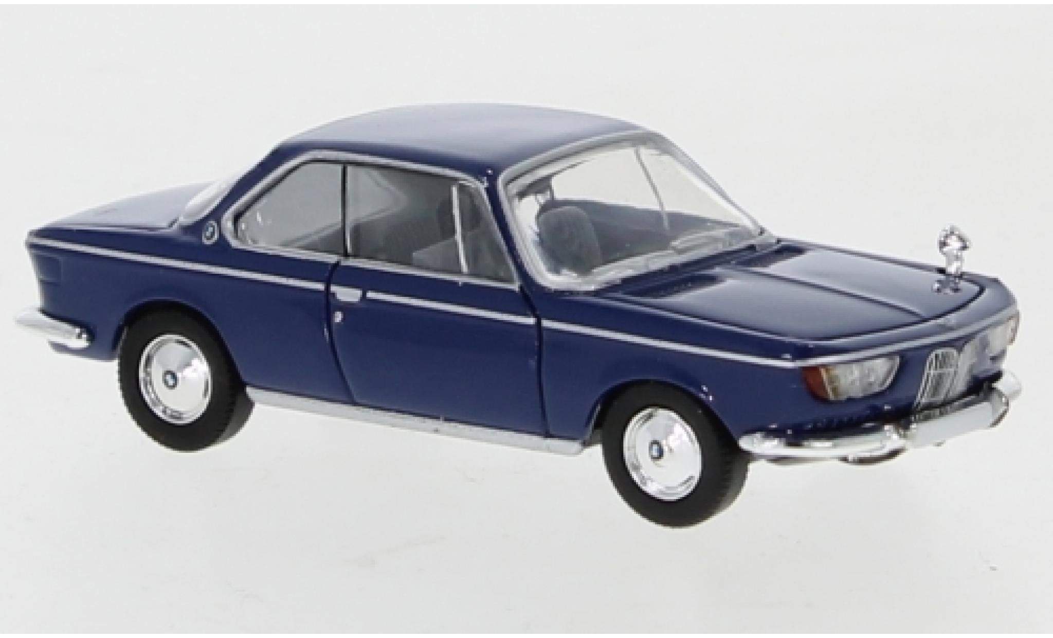 Bmw 2000 1/87 PCX87 CS bleue 1965