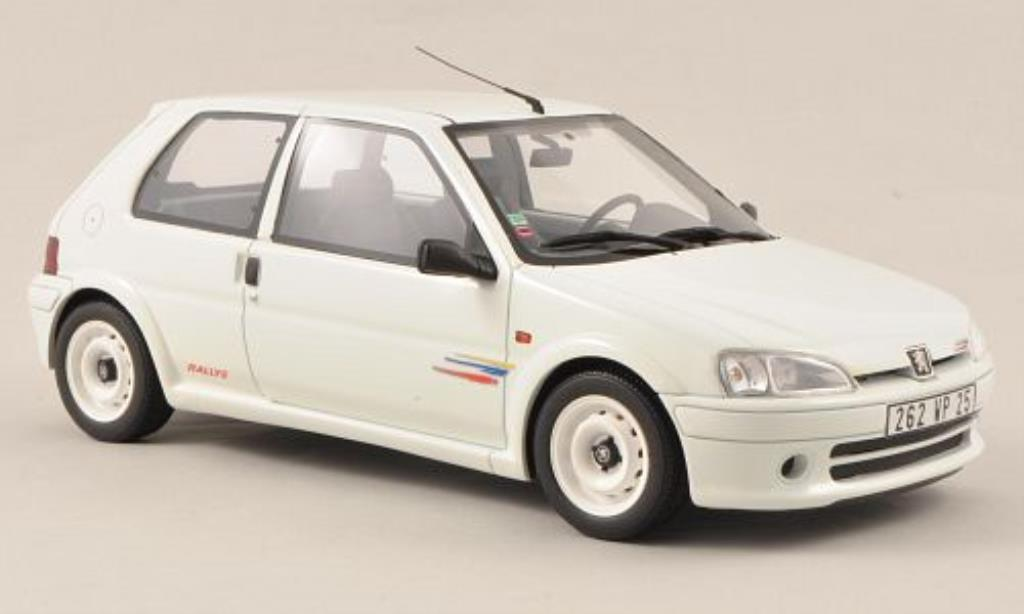 peugeot 106 rallye rally phase 2 bianco ottomobile modellini auto 1 18 comprare sendere. Black Bedroom Furniture Sets. Home Design Ideas