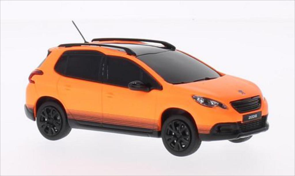 Peugeot 2008 1/43 Norev matt-orange 2013 miniature
