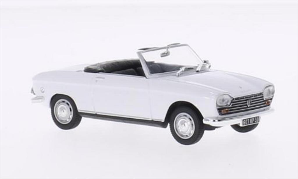 Miniature Peugeot 204 Cabriolet blanche 1967 Norev. Peugeot 204 Cabriolet blanche 1967 miniature 1/43