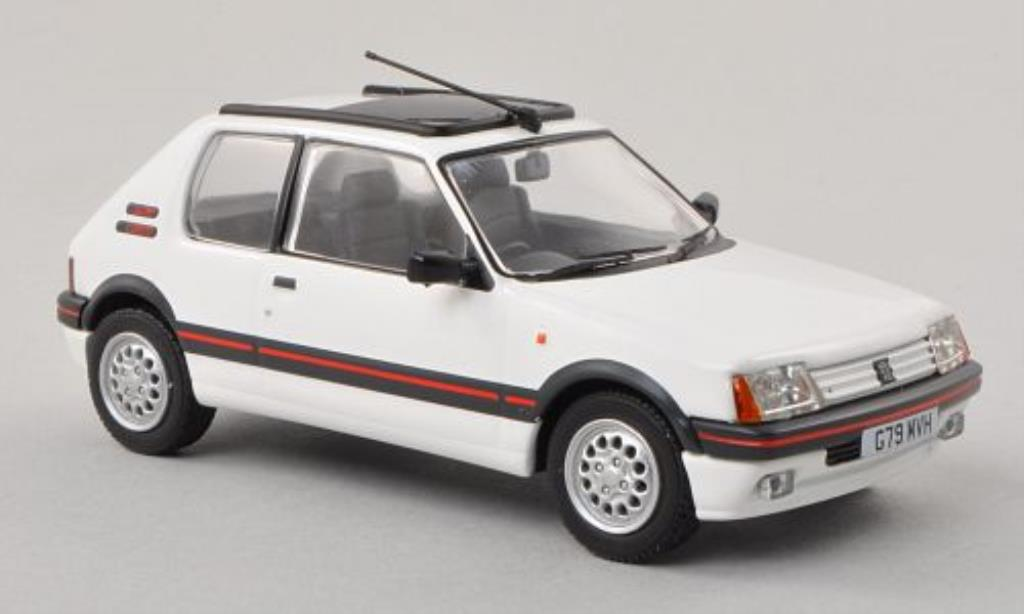 peugeot 205 gti miniature 1 6 blanche rhd vanguards 1 43 voiture. Black Bedroom Furniture Sets. Home Design Ideas