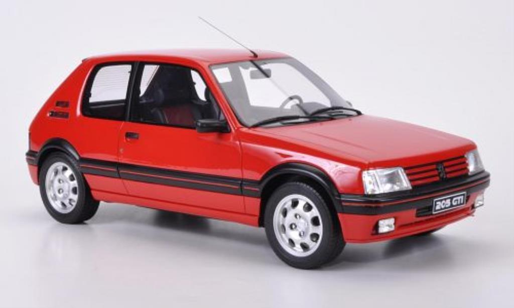 Peugeot 205 gti 1900 red ottomobile diecast model car 1 12 for Housse 205 gti