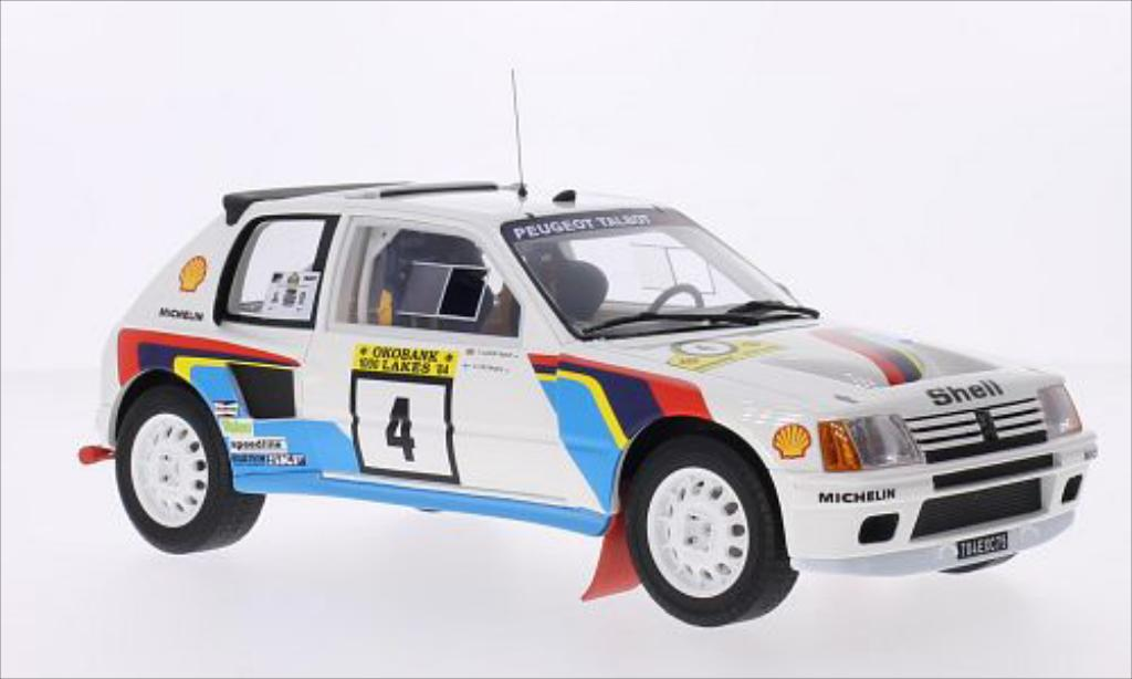 Peugeot 205 Turbo 16 1/18 Ottomobile T16 Gr.B No.4 Talbot Sport 1000 Lakes Rallye 1984 /T.Harryman diecast model cars