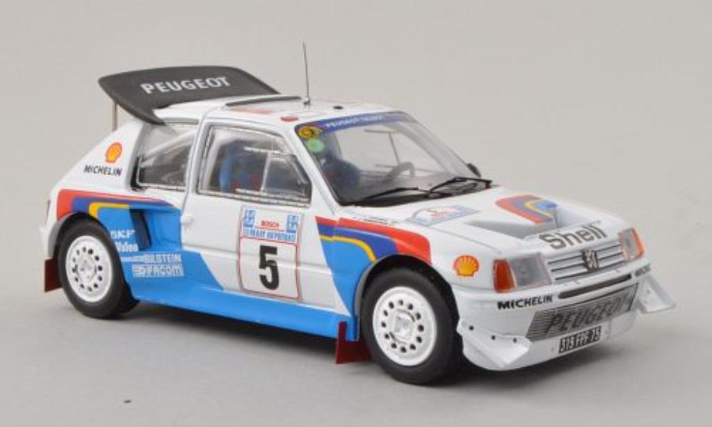 Peugeot 205 Turbo 16 1/43 IXO Turbo 16V Evo2 No.5 Rally Akropolis 1986 /J.Piironen miniature