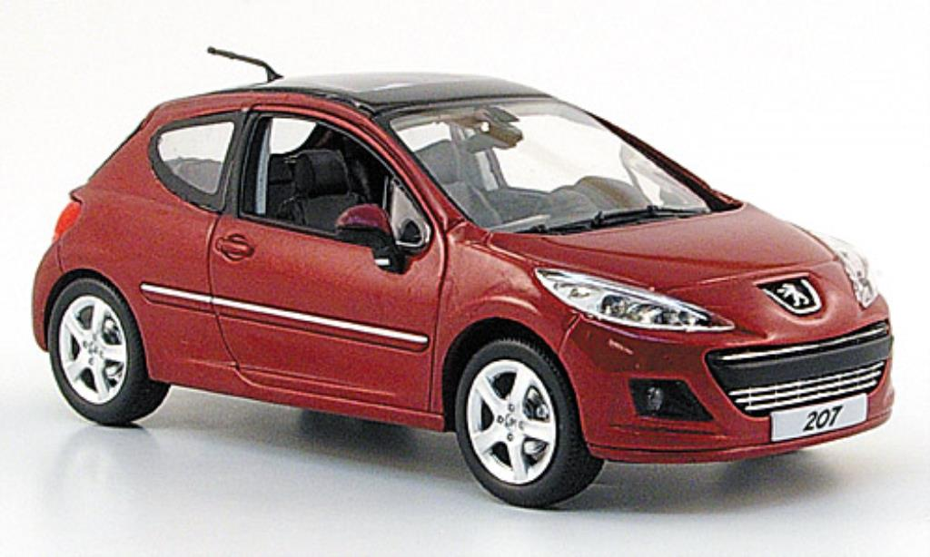 peugeot 207 miniature mi vie berline rouge 2009 norev 1 43 voiture. Black Bedroom Furniture Sets. Home Design Ideas