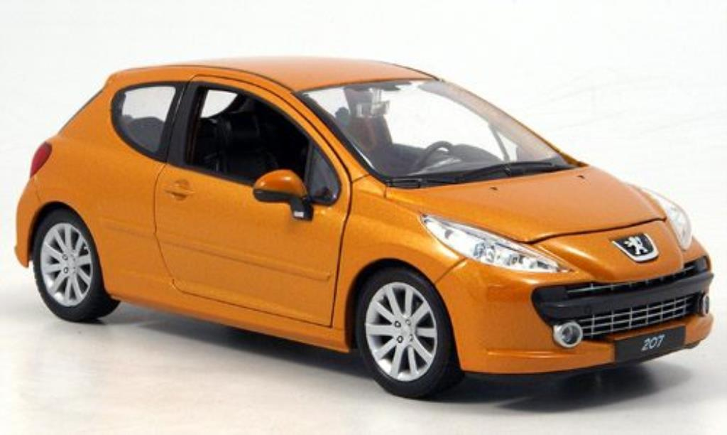 peugeot 207 orange welly diecast model car 1 24 buy sell diecast car on. Black Bedroom Furniture Sets. Home Design Ideas
