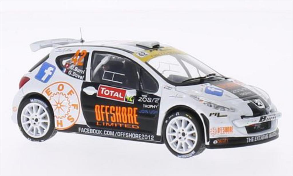 Peugeot 207 S2000 1/43 IXO Rallye Monte-Carlo 2013 /G.Duval miniature