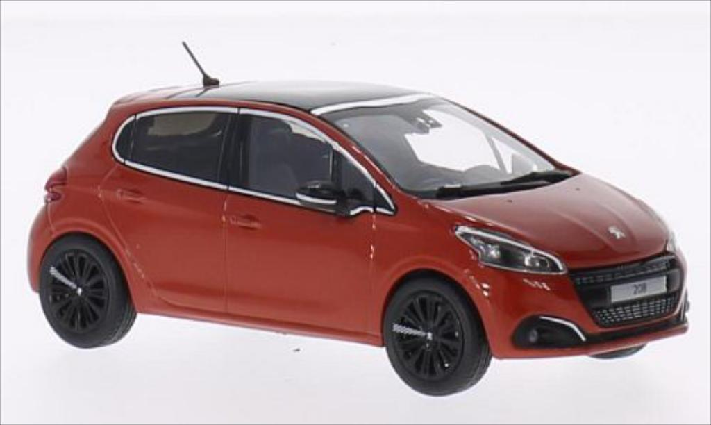 Peugeot 208 1/43 Norev orange 2015 miniature
