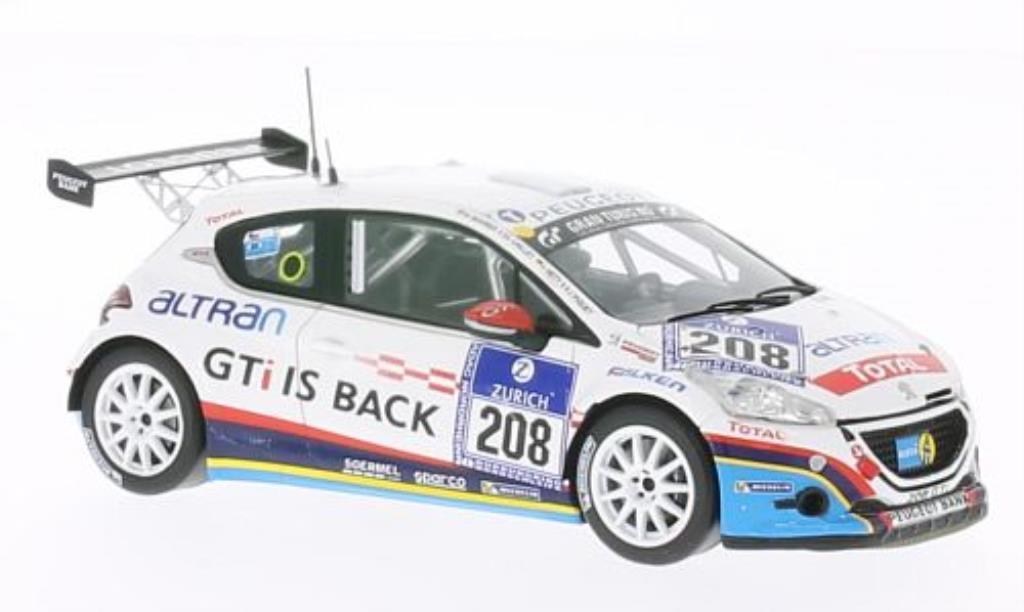 Peugeot 208 GTI 1/43 Spark No.208 24h Nurburgring 2013 /J.Piguet miniature