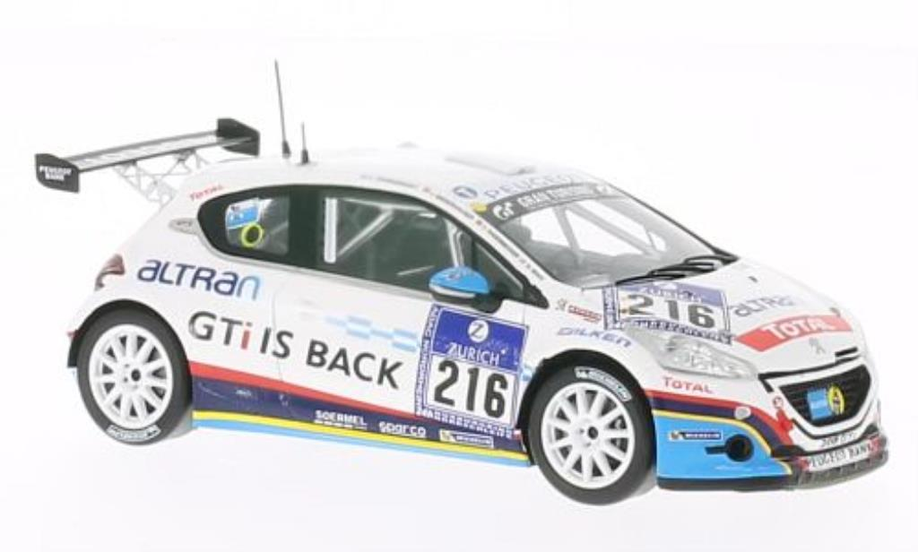 Peugeot 208 GTI 1/43 Spark No.216 24h Nurburgring 2013 /G.Ricci miniature
