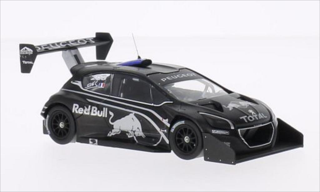 Peugeot 208 T16 1/43 IXO No.208 Red Bull Pikes Peak 2013 miniature