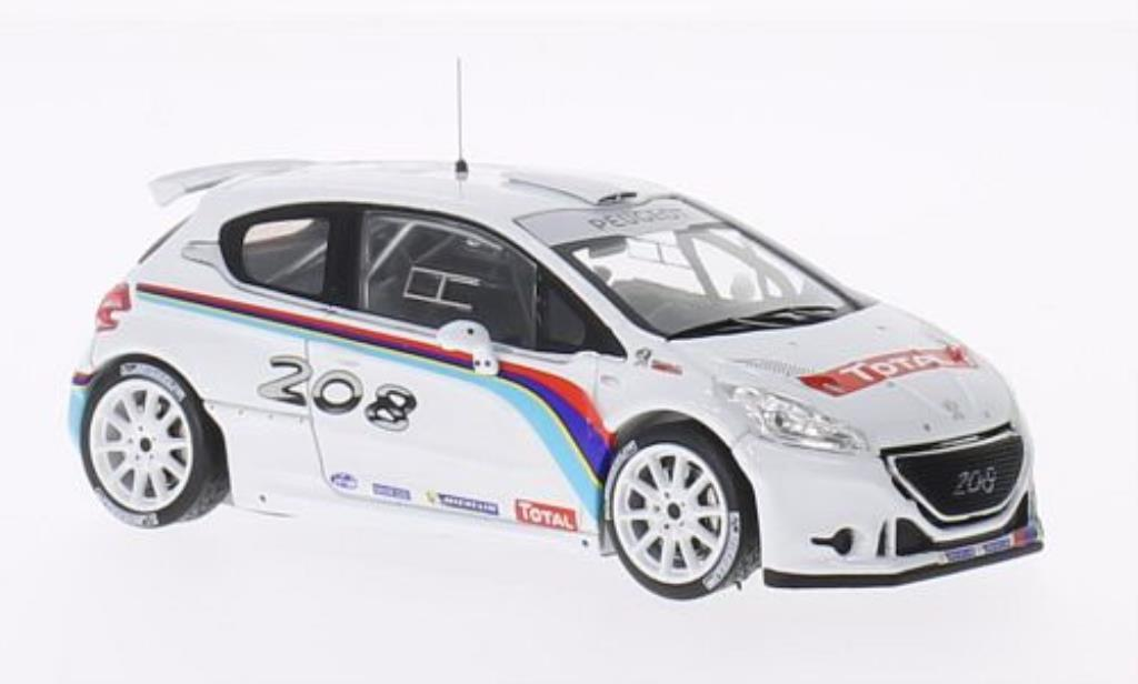 Peugeot 208 T16 1/43 IXO R5 Test Car 2013 miniature