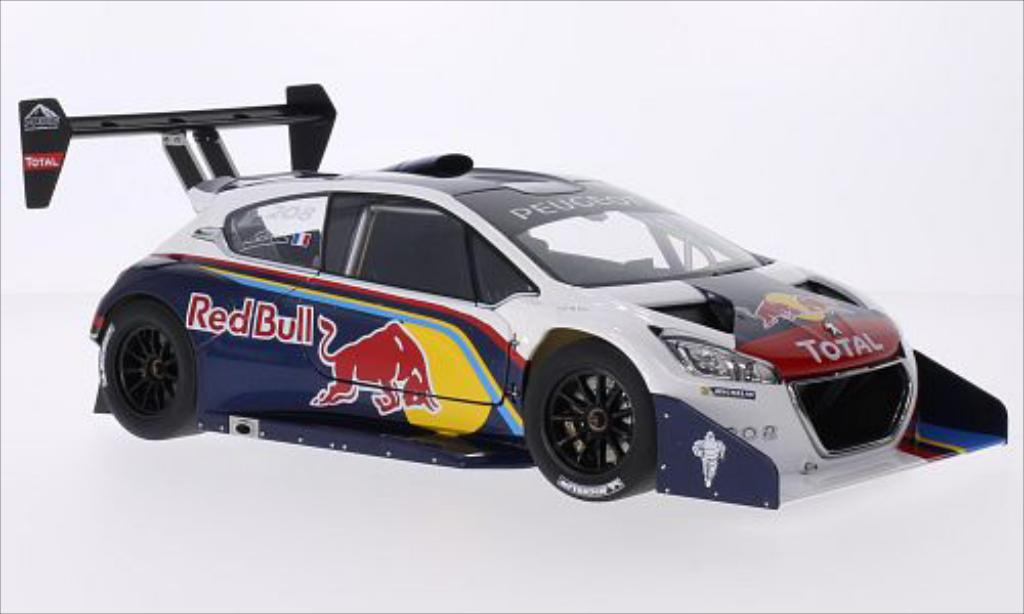 Peugeot 208 T16 1/18 Autoart Red Bull / Total International Hill Climb Pikes Peak 2013 miniature