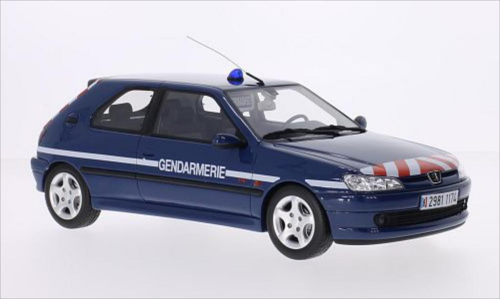 peugeot 306 s16 miniature gendarmerie ottomobile 1 18 voiture. Black Bedroom Furniture Sets. Home Design Ideas